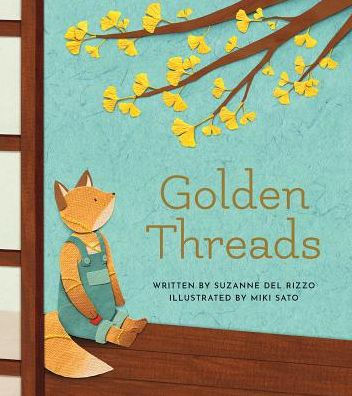 Book cover with stuffed animal fox looking at tree branch