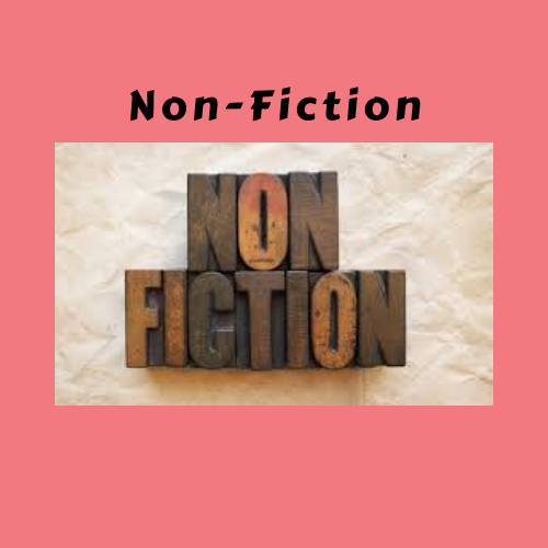 """Non Fiction"" words carved into wood"