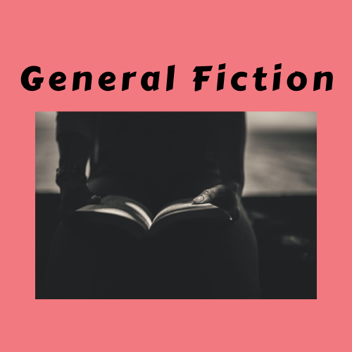 "Book Genre Block - ""General Fiction"" Person holding book"