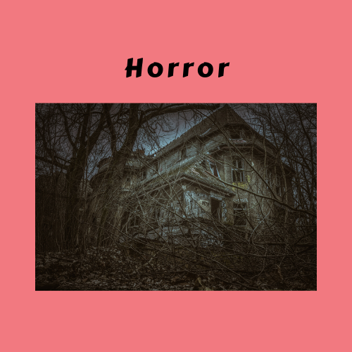 "Book Genre Block - ""Horror"" creepy house"