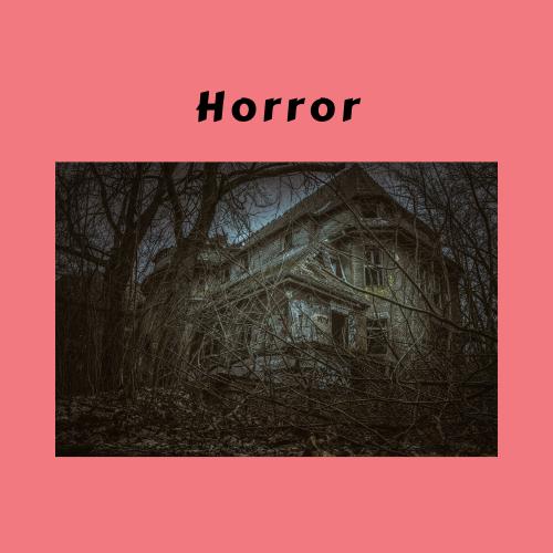 "Book Genre Block - ""Horror"" creepy house"