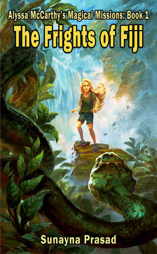 Book cover girl in swamp with snake