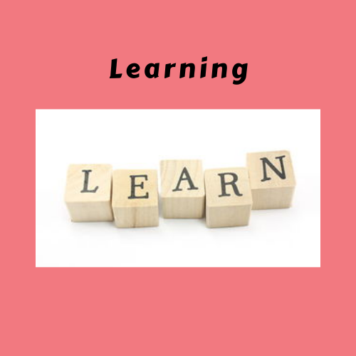 "Book Genre ""Learning"" with ""Learn"" spelled in blocks"