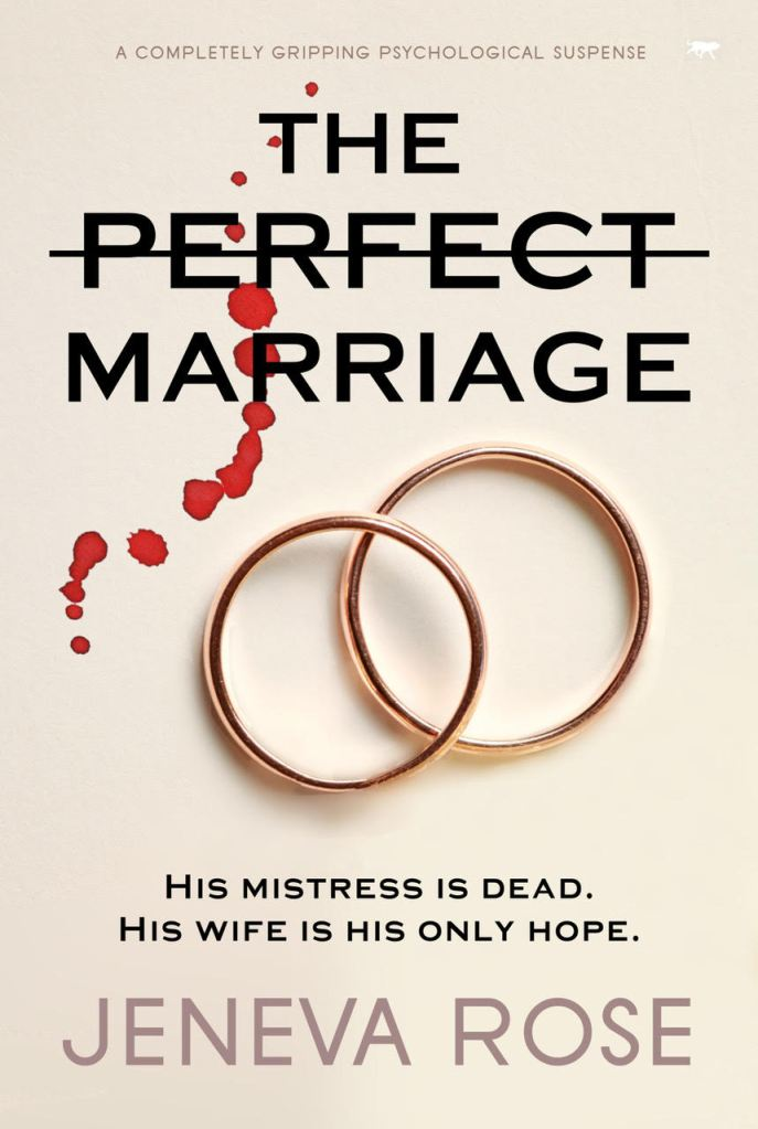 Book Cover of two wedding rings and blood drops