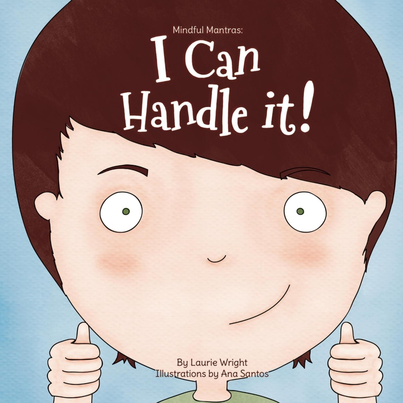 "Book Cover ""I can handle it"" with boy giving a thumbs up"