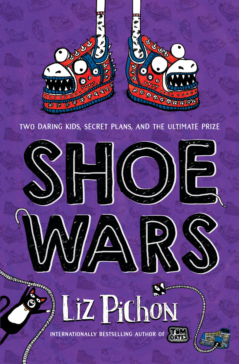 Book Cover with two shoes that have turned into monster faces