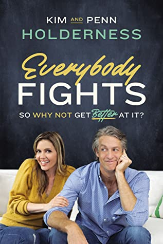 """Book Cover of """"Everybody Fights"""" with both authors sitting on couch together"""