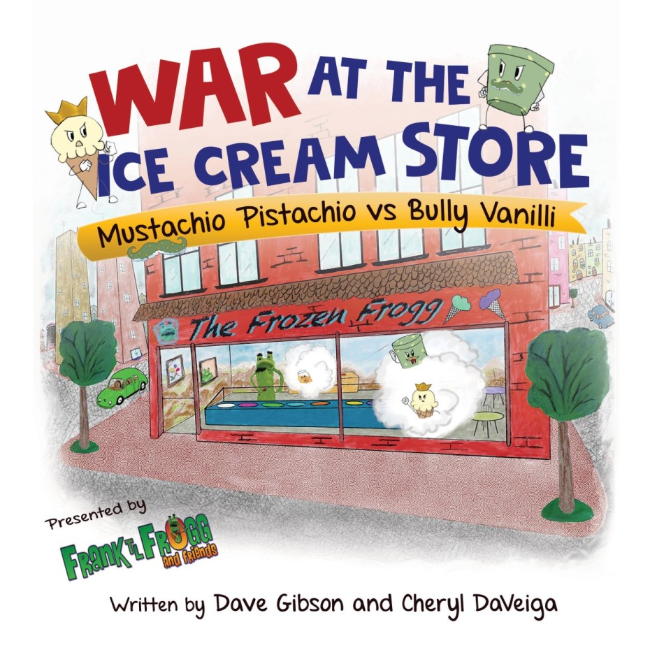 Book cover of ice cream store from street view