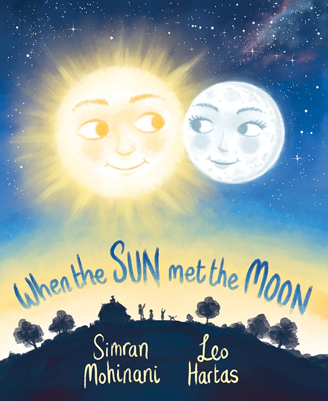 Book cover of sun and moon close in sky