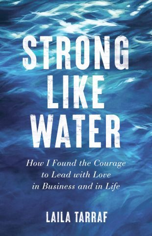 "Book cover ""Strong Like Water"" with cover image of water rippling"