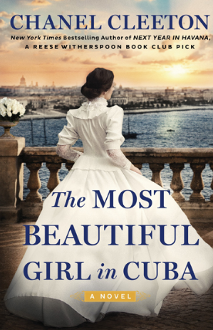 "Book Cover ""The Most Beautiful Girl in Cuba"" girl in dress by sea shore"
