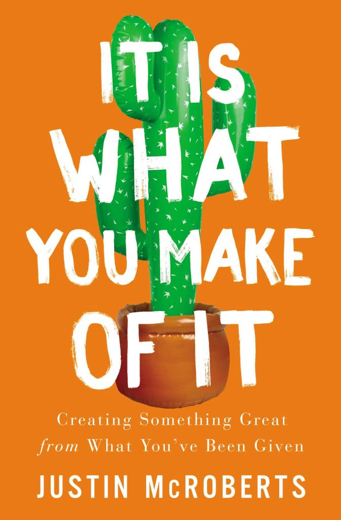 It Is What You Make of It book cover with inflatable cactus