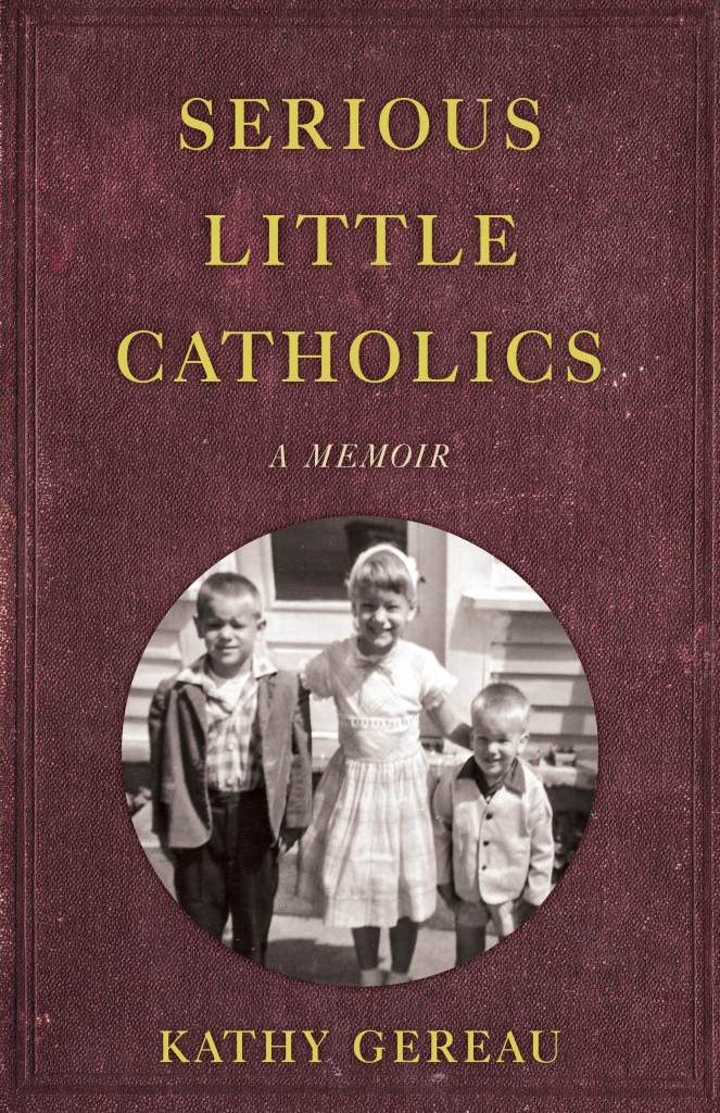 Serious Little Catholics book cover with photo of three children