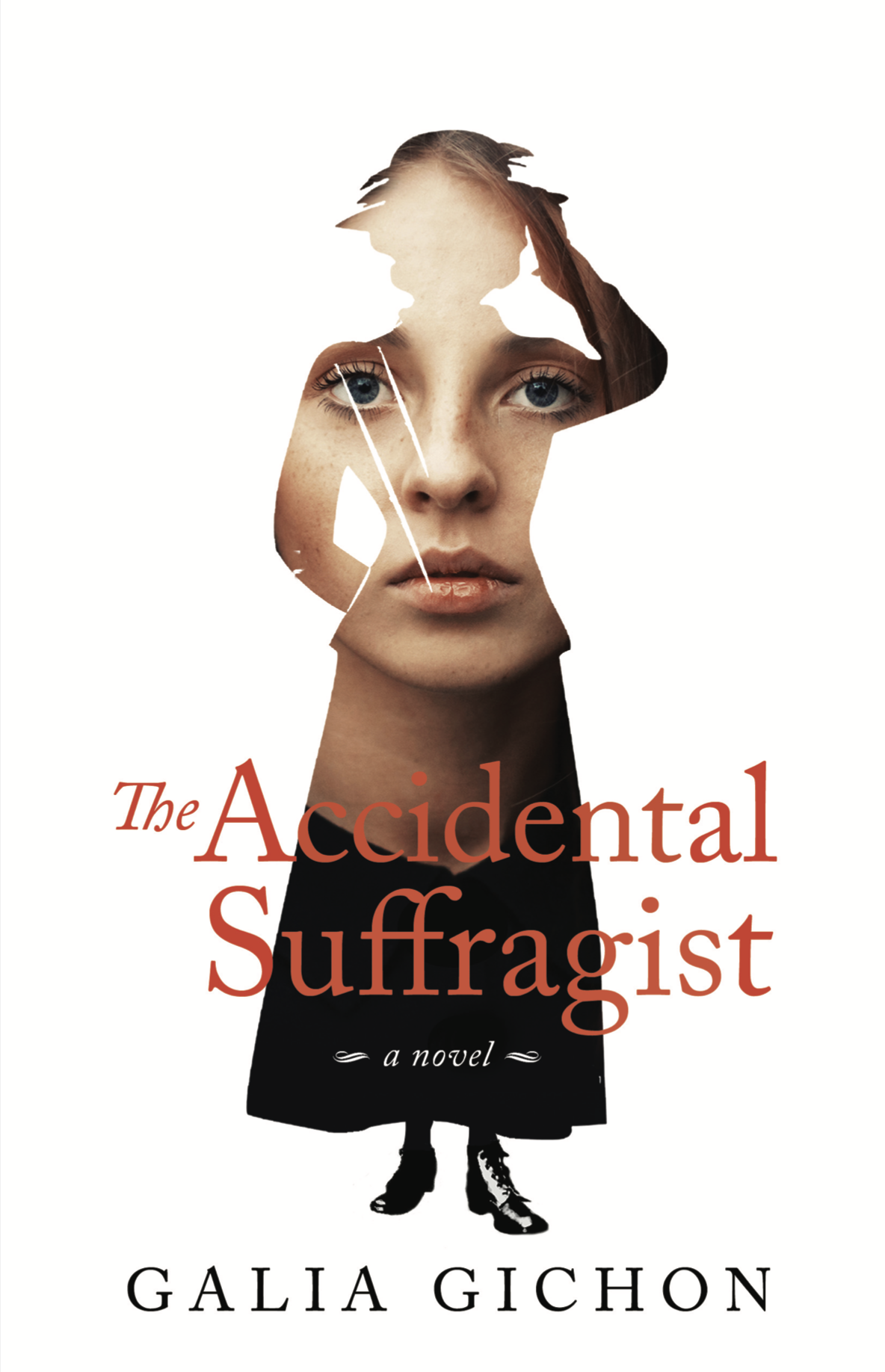 The Accidental Suffragist book cover of woman's outline with woman's face filling outline