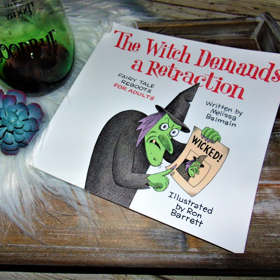 The Witch Demands a Retraction book with glass of wine