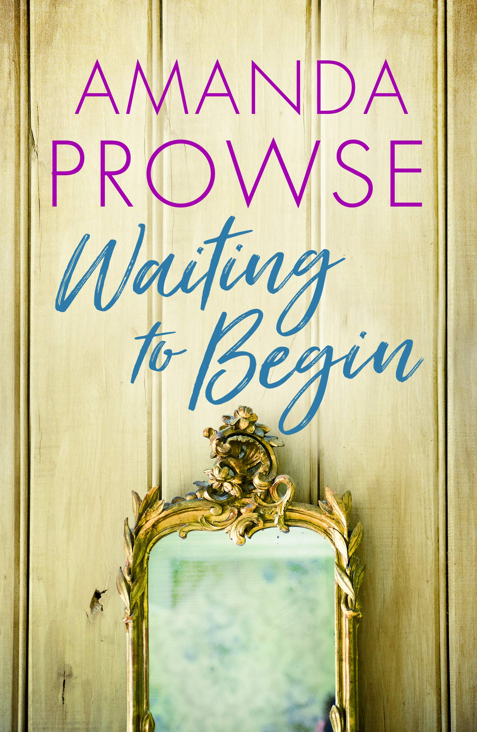 Waiting to Begin book cover with mirror