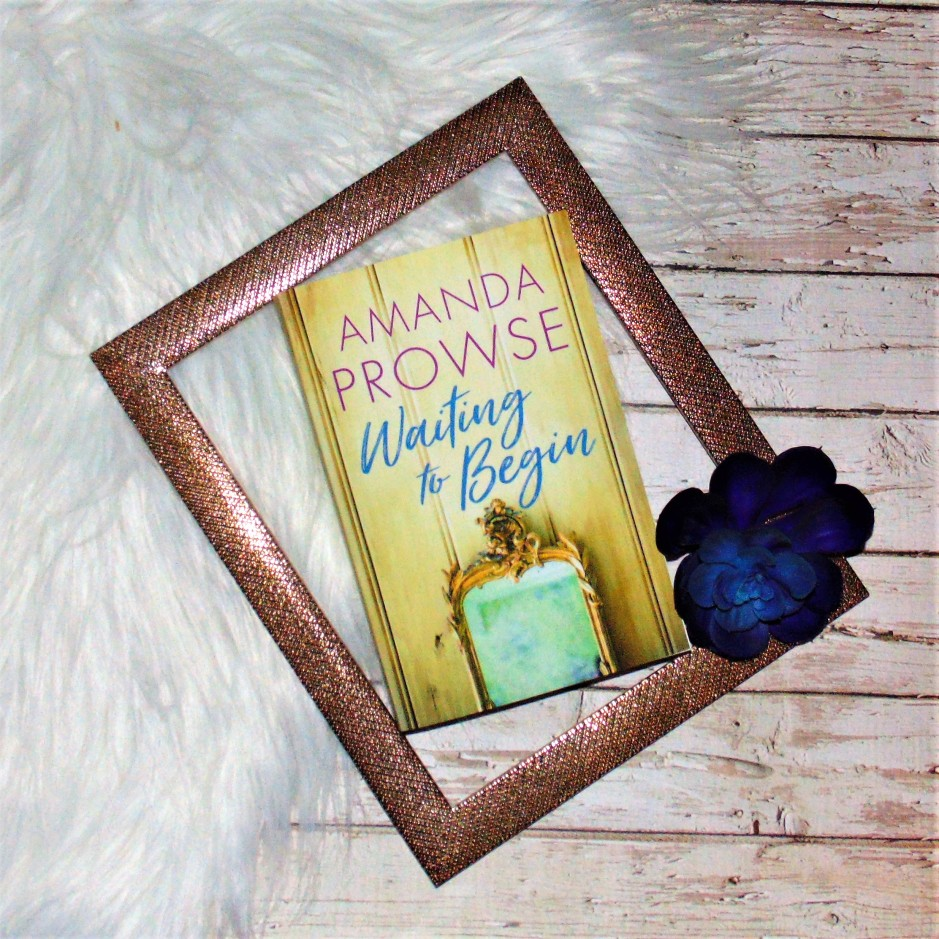 Waiting to Begin book in frame with flower