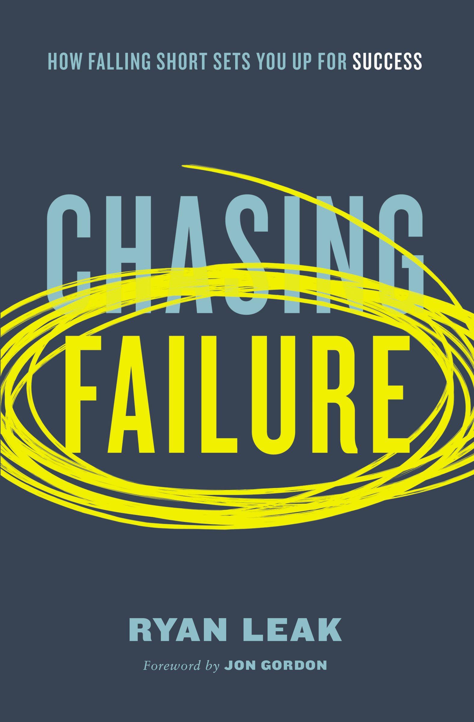 """Chasing Failure book cover with """"Failure"""" circled again and again"""