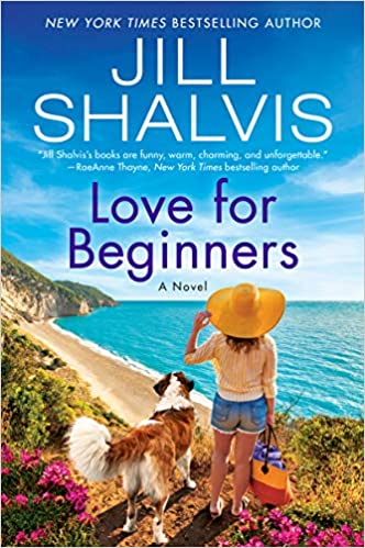 Love for Beginners book cover with woman and dog looking at ocean