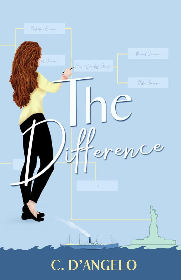 The Difference book cover with girl drawing family geneology