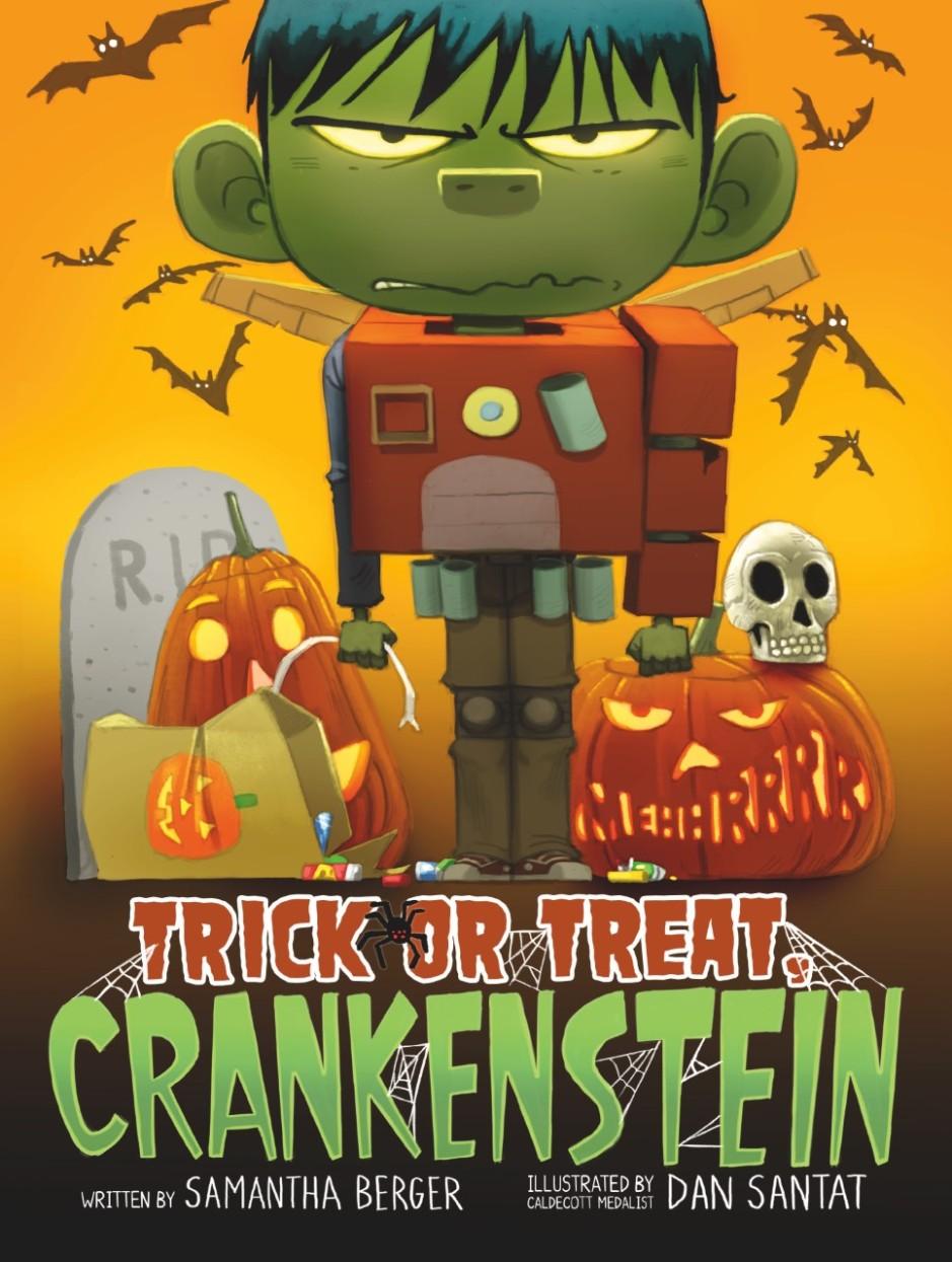 Crankenstein book cover with boy in frankenstein costum