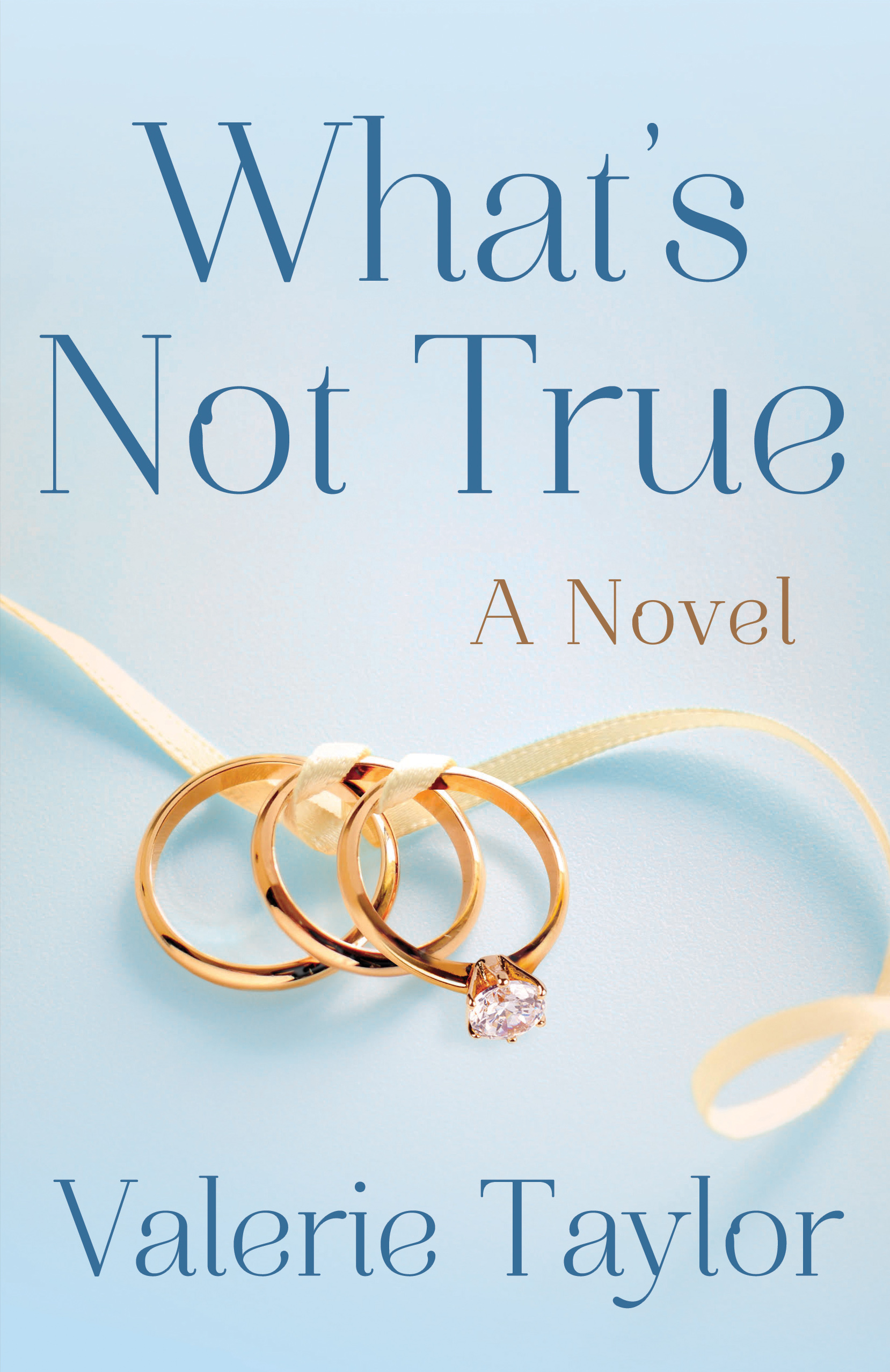 What's Not True book cover with three rings twisted together with ribbon
