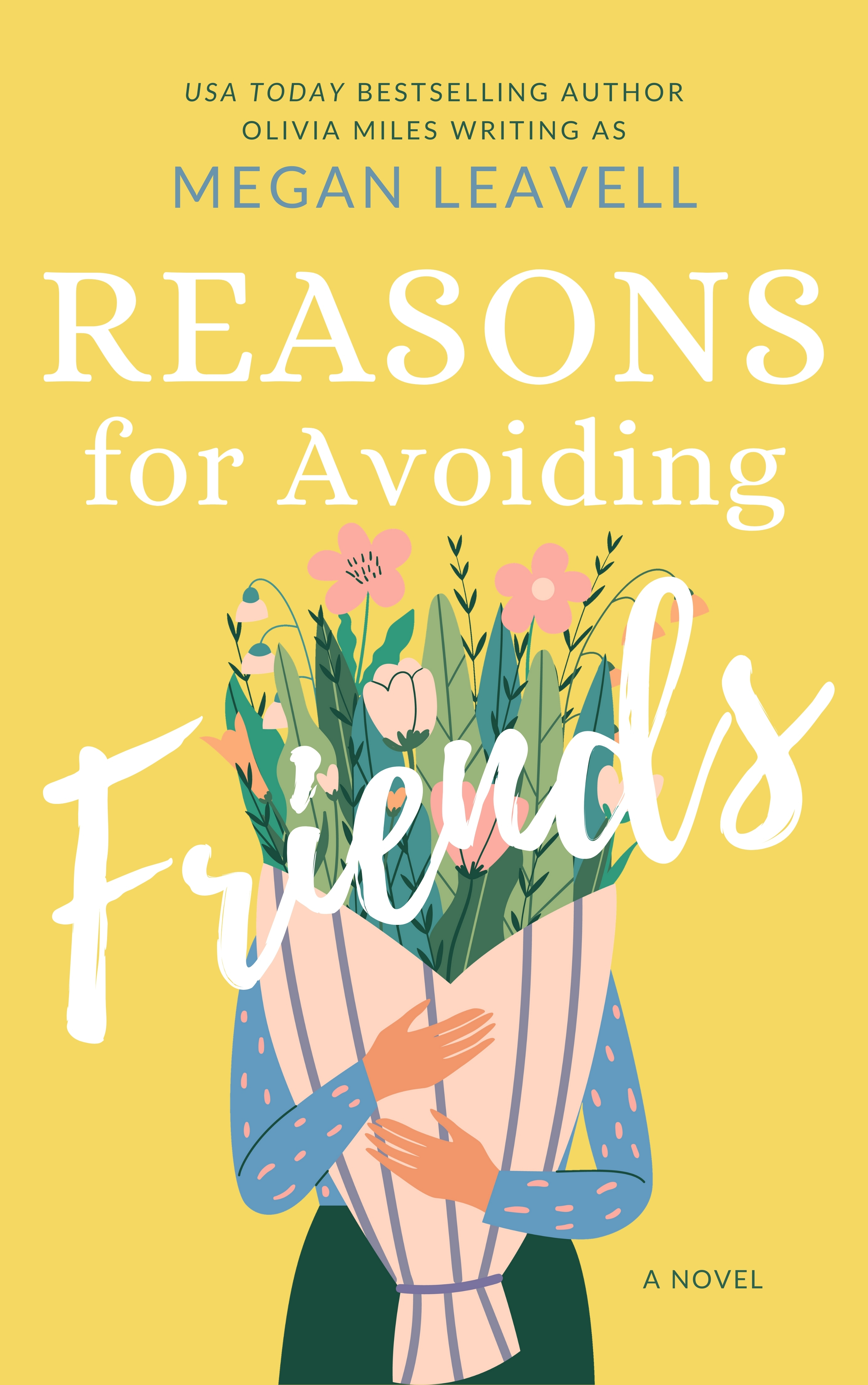 Reasons for avoiding Friends book cover with woman holding large flower bouquet