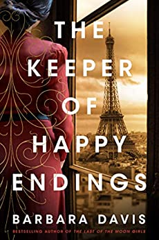 The Keeper of Happy Endings book cover with girl looking at Eiffel Tower
