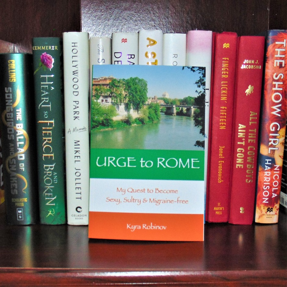Urge to Rome book on bookshelf